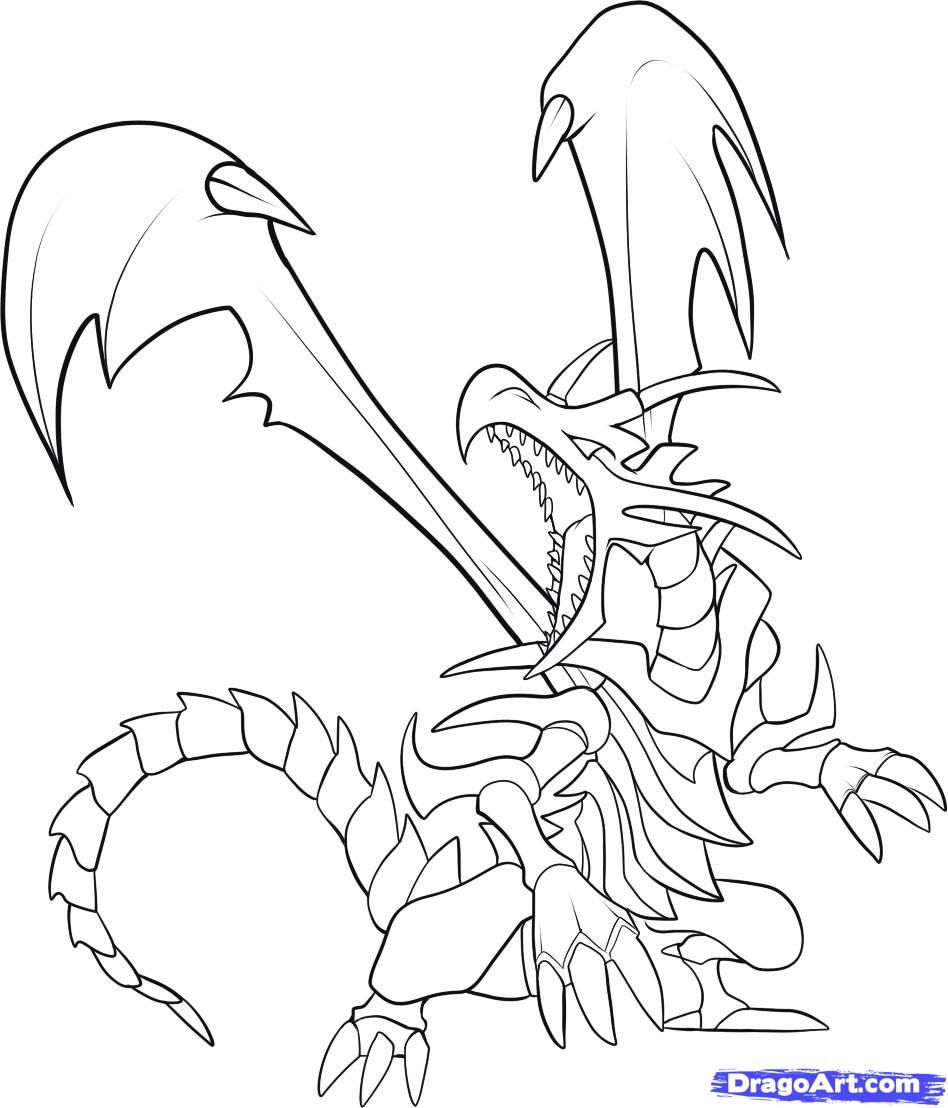to Draw Red Eyes Black Dragon Step by Step Cartoons