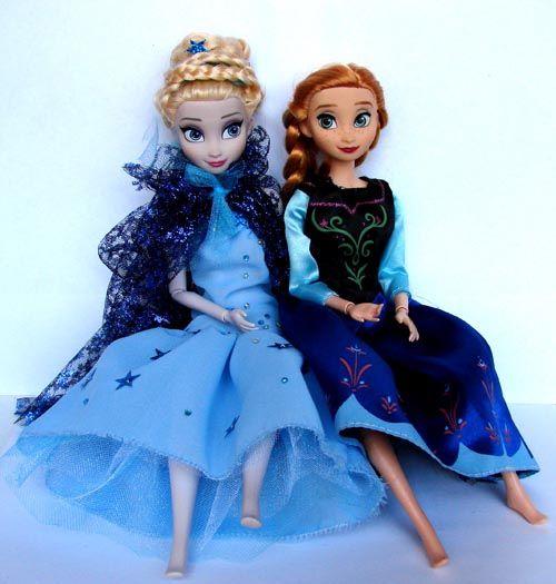 Анна и эльзе шить платье