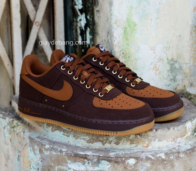 nike air force 1 premium 07 brown and flannel lined