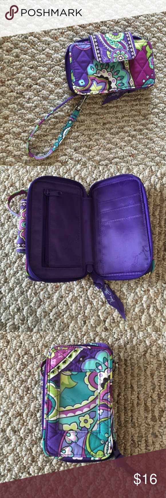 Vera Bradley Wristlet! Pet and smoke free home, only used a few times in good condition! Feel free to make an offer! (: Vera Bradley Bags Clutches & Wristlets