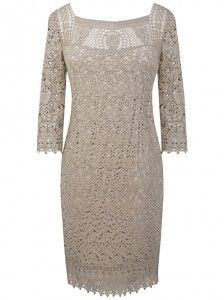 af74f58fb4f Style over 50  Daytime lace dress withy sleeves