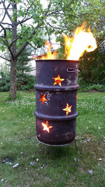 Feuertonne ✬ Sternenfunkel ✬ Winterfeuer ✬ Feuer Feuertonnen - feuertonne selber machen
