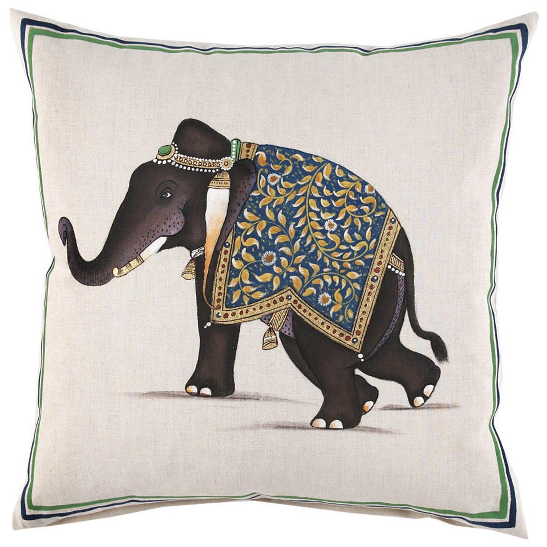 John Robshaw Indian Elephant Decorative Pillow