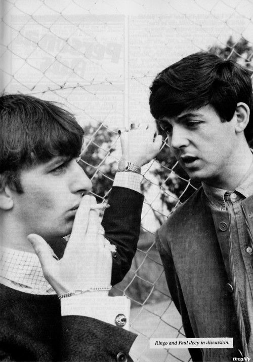 Paul and Ringo in Margate, July 1963  Photo by Leslie Bryce  Scan