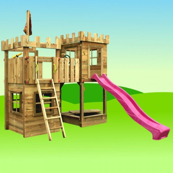 Spielturm FunFactory Fit XXL Mit Schaukel 810719k T