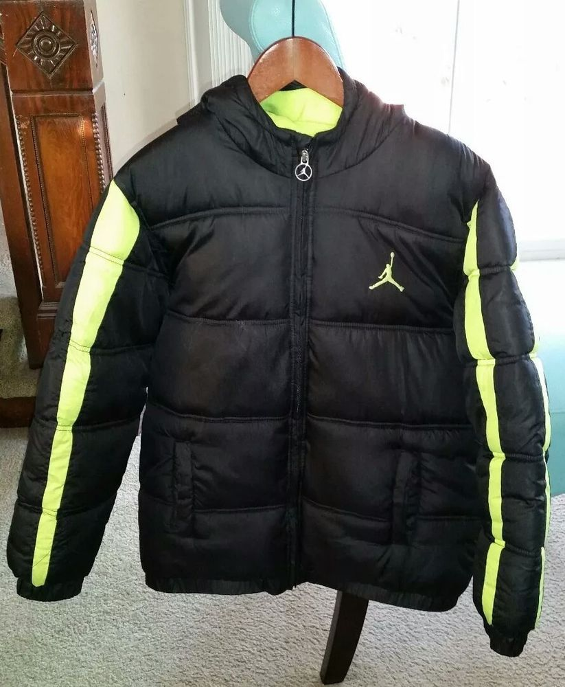7dd85fc5d98c Nike Air Jordan Puffer Jacket Jumpman Kids Boys Youth Coat Hooded Black  Size L  fashion  clothing  shoes  accessories  kidsclothingshoesaccs ...