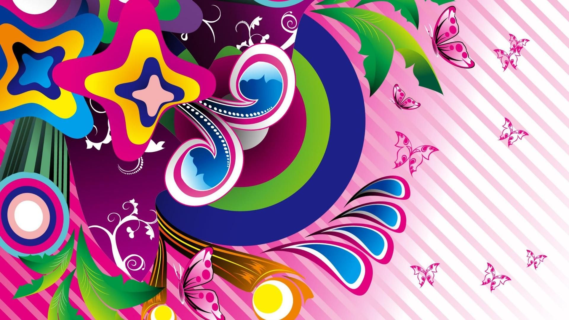 Pink butterfly vector background hd wallpapers pink butterfly vector - Download Vector Butterfly Butterflies Resolution Wallpaper