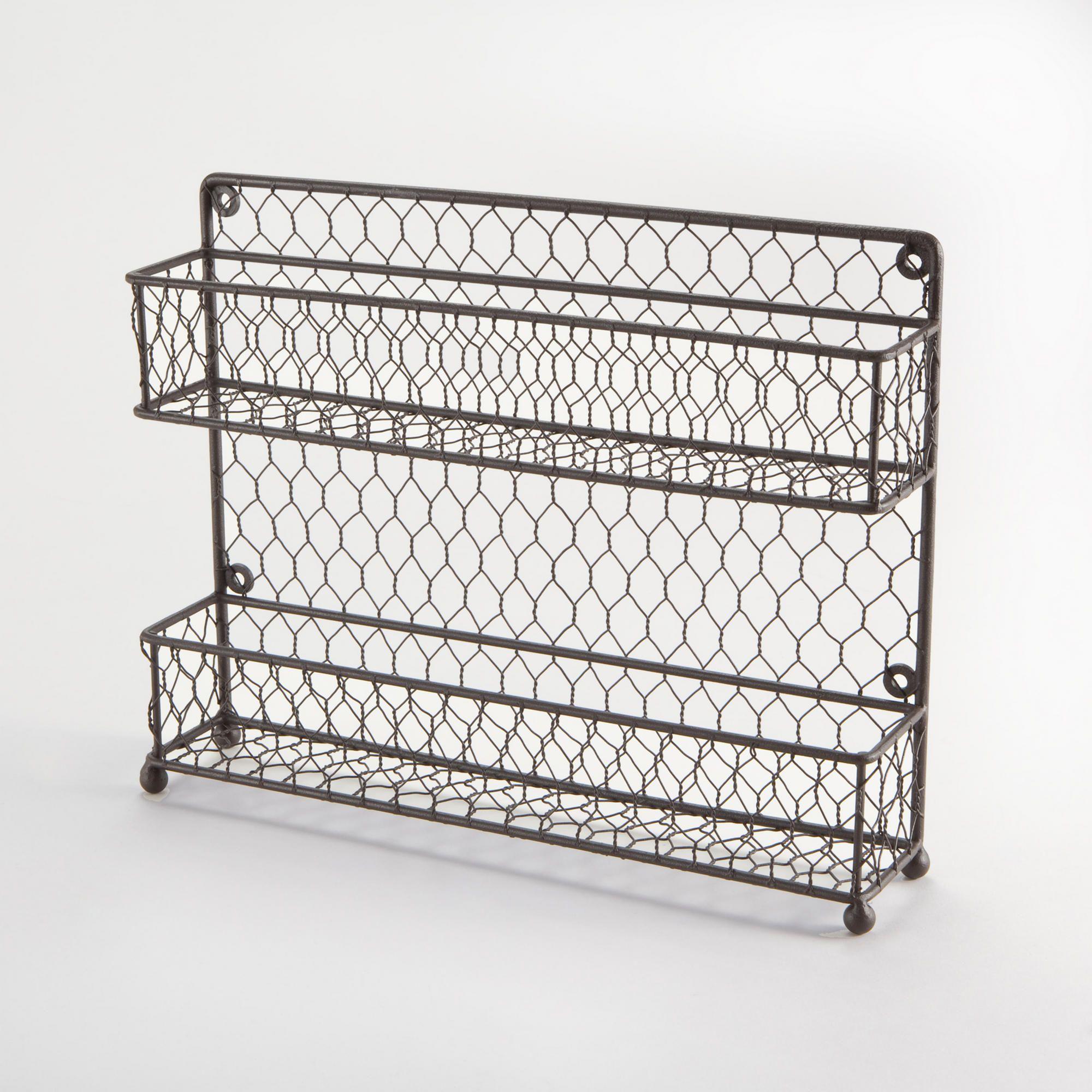 Two-Tier Wire Spice Rack | World Market... Letter holder, memo board ...