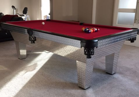 Diamond Plate Pool Table
