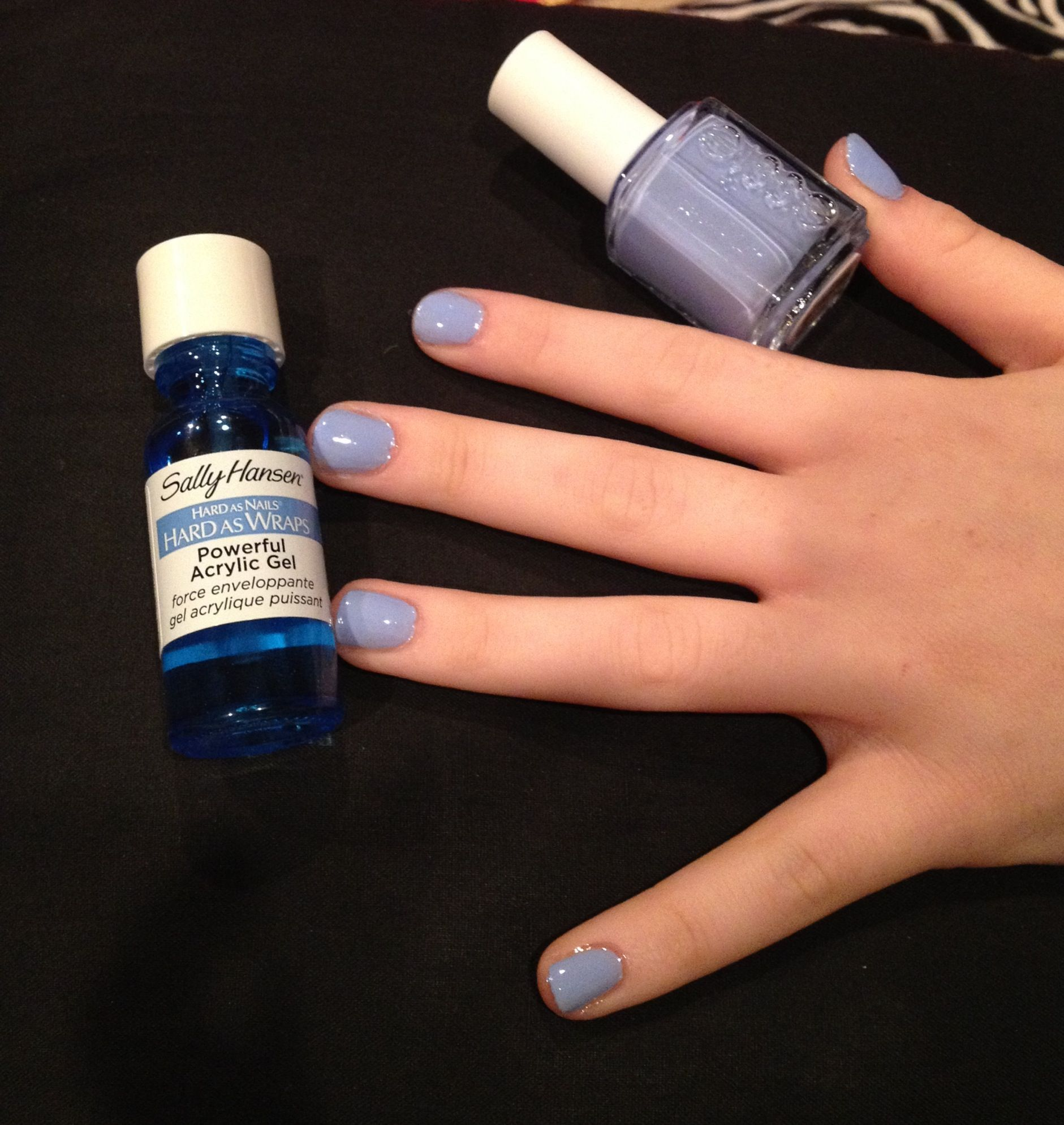 At home shellac: Sally Hansen Hard as Nails Hard as Wraps Powerful ...