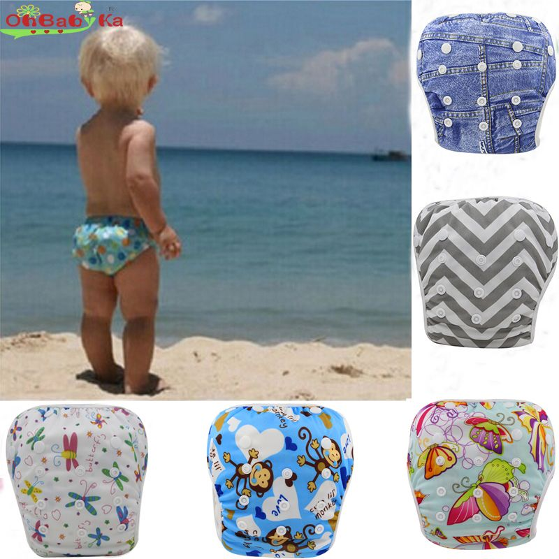 Swim Nappy Diaper Leakproof Reusable Adjustable Baby Infant Boy Girl Toddler