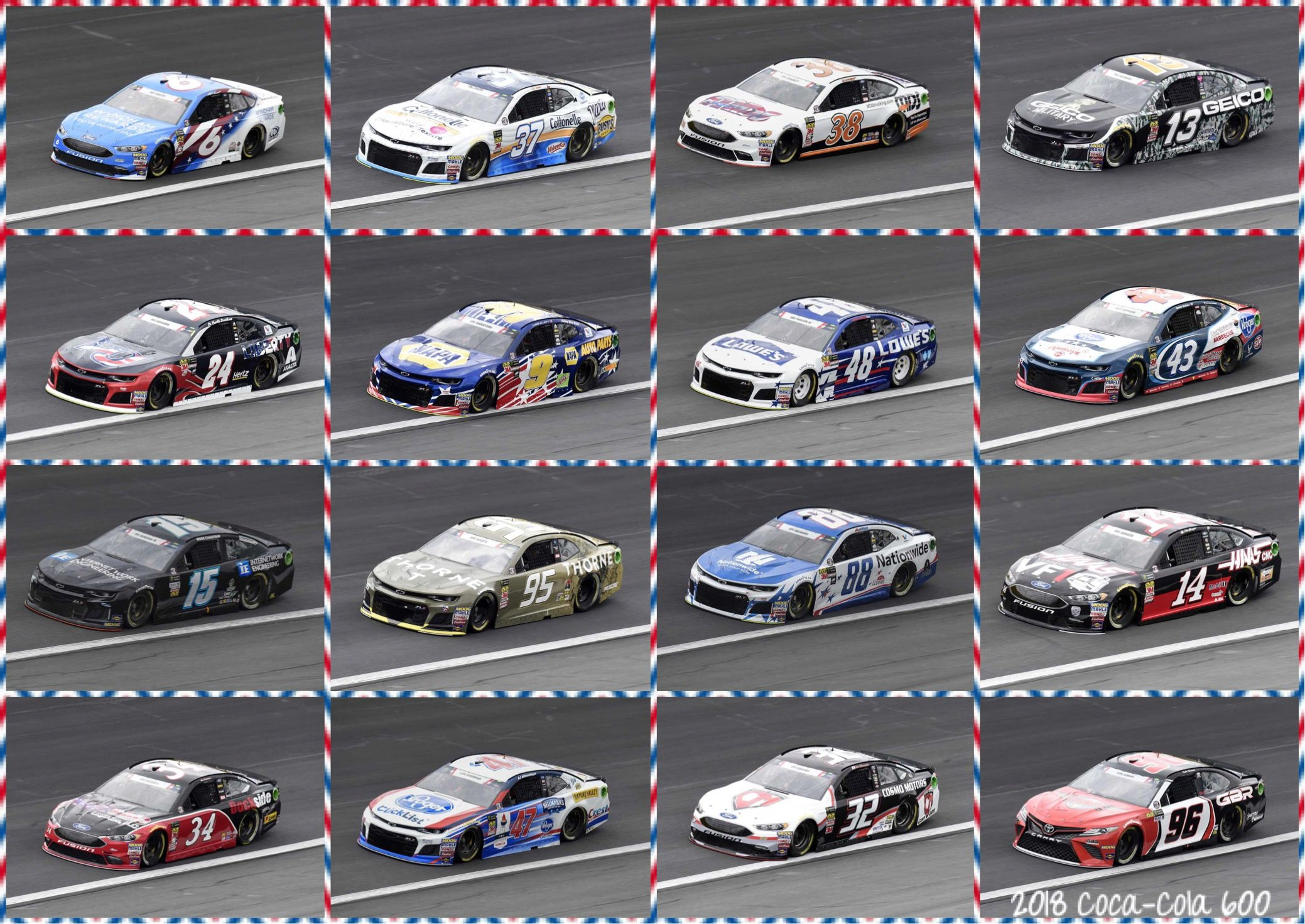 2018 Coke Cola 600 Lineup With Images Coke Cola Sports Car Nascar