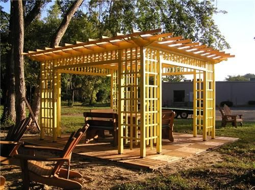 wood walkways easy to build | This freestanding wood patio cover was built  from a western - Wood Walkways Easy To Build This Freestanding Wood Patio Cover