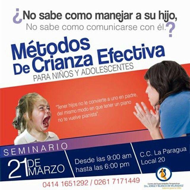 Nueva Fecha #MetodosdeCrianza 21  de Marzo de 2015 de 9 am a 6 pm Psic. Carlos Petit, Psic. Maria Carolina #Seminario #Coach #Parejas #Mentoring #Maracaibo #ExpertosEnParejas #ProblemasDePareja Previa Cita RESERVACIONES 0261-7171449  0414-1651292 0416-1621847