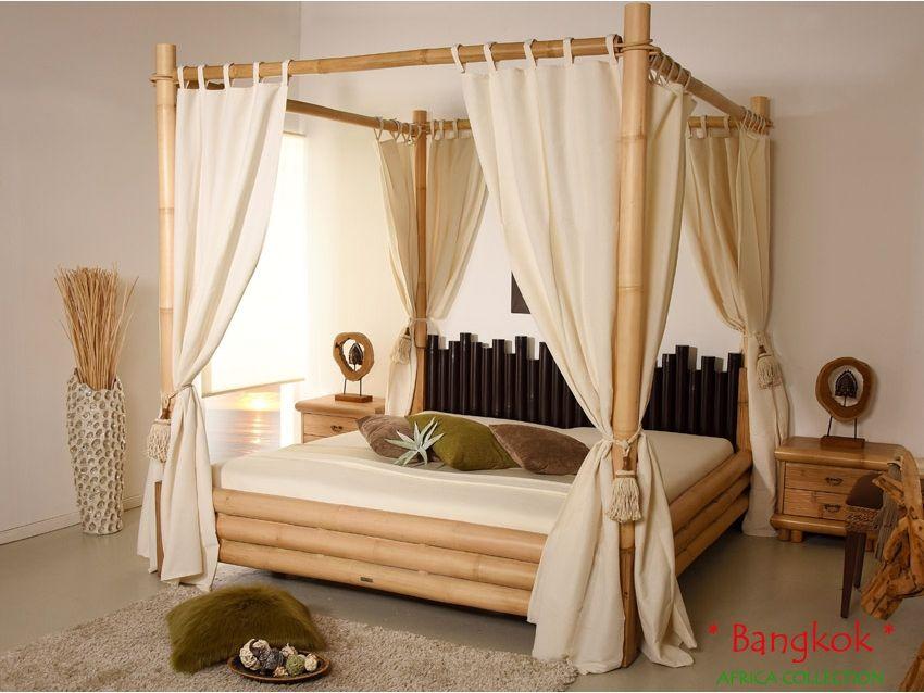Bangkok Himmelbett Palawan Collection Bambusbett Himmelbetten