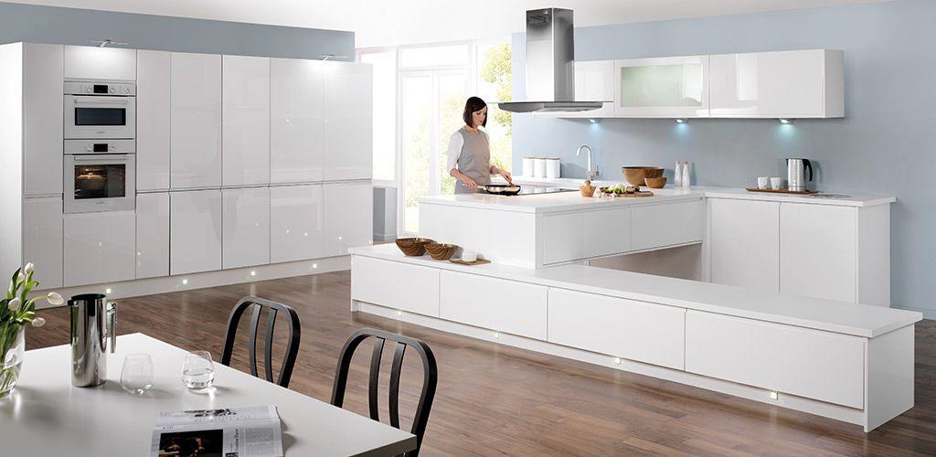 wren living - handleless white gloss kitchen | home - kitchen