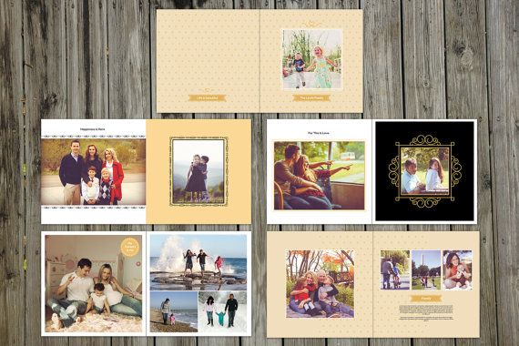 12x12 Family Album Template 20 Pages Album by TemplateStock #FREE