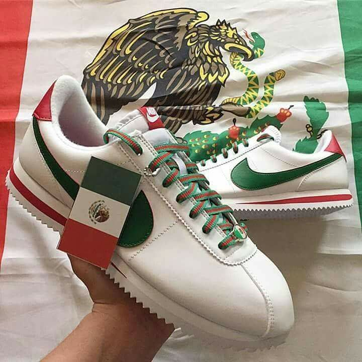 Mexico Flag, Nike Cortez, Viva Mexico, Chicano, Shoe Game, Nike Shoes,  Mexican, Lowrider, Gangsters