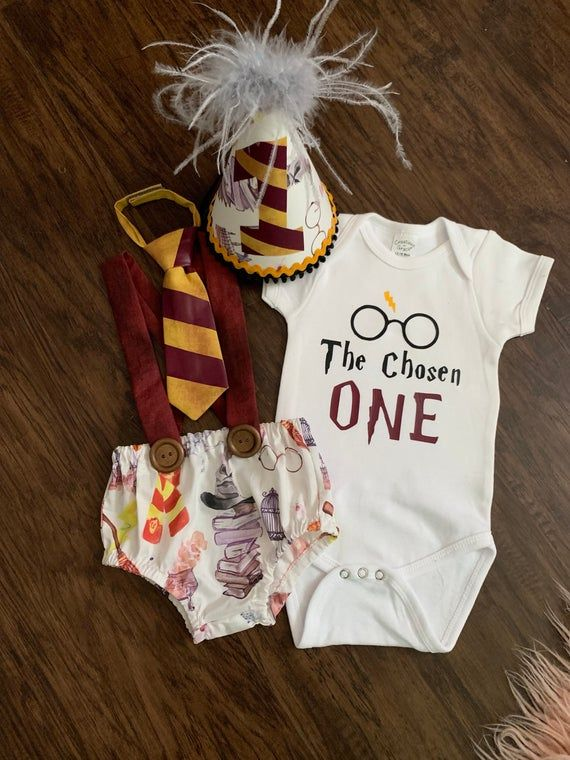 Harry Potter Custom Baby Boy Birthday smash cake outfit/first birthday/the chosen one birthday/hipster birthday/baby girl birthday/muggle