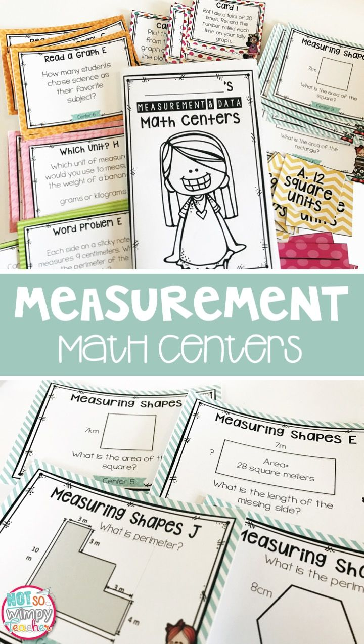 Measurement & Data Third Grade Math Centers | Math groups, Math and ...