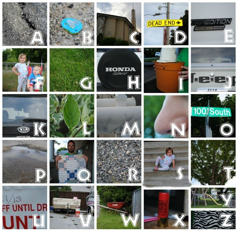 ABC Scavenger Hunt with a free printable. Great inside or out ...