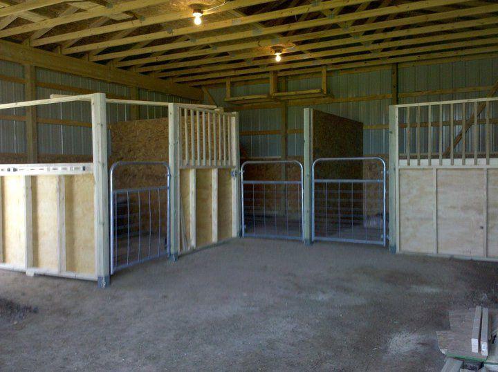 Diy Stalls In Lumber Wood Horse Stalls Horse Stalls Diy Horse