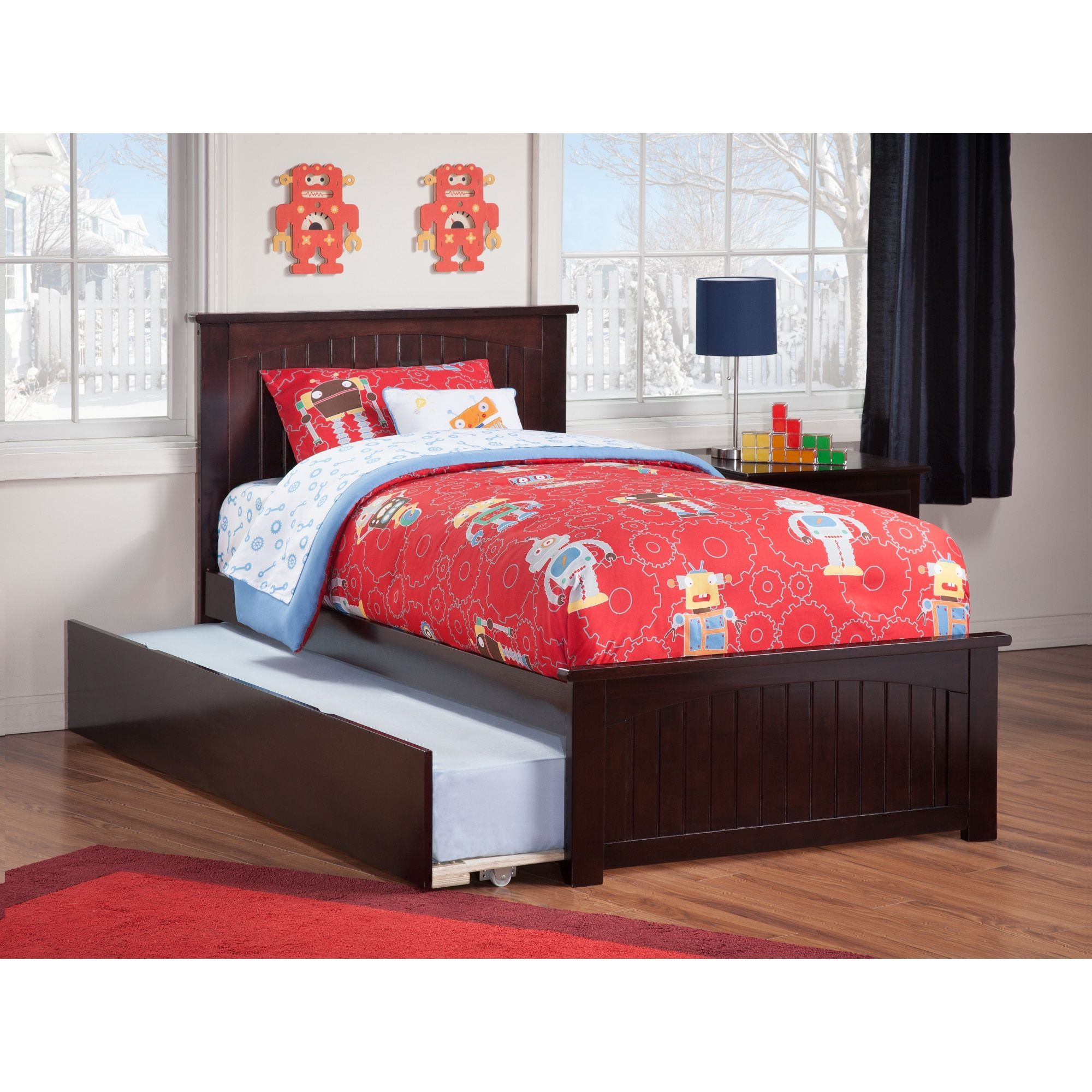 Nantucket Twin Platform Bed with Matching Foot Board with