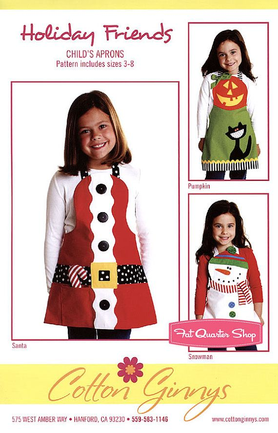 Hey, I found this really awesome Etsy listing at https://www.etsy.com/listing/163838988/holiday-friends-childs-apron-pattern
