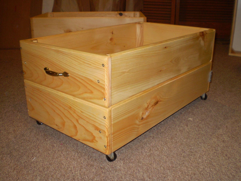 12 Inch Under Bed Storage Rolling Drawer Storage Box