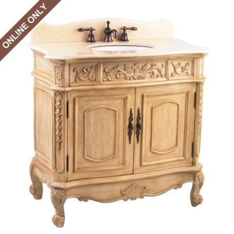 Ivory Sinclair Vanity Sink #kirklands #bathroomluxury