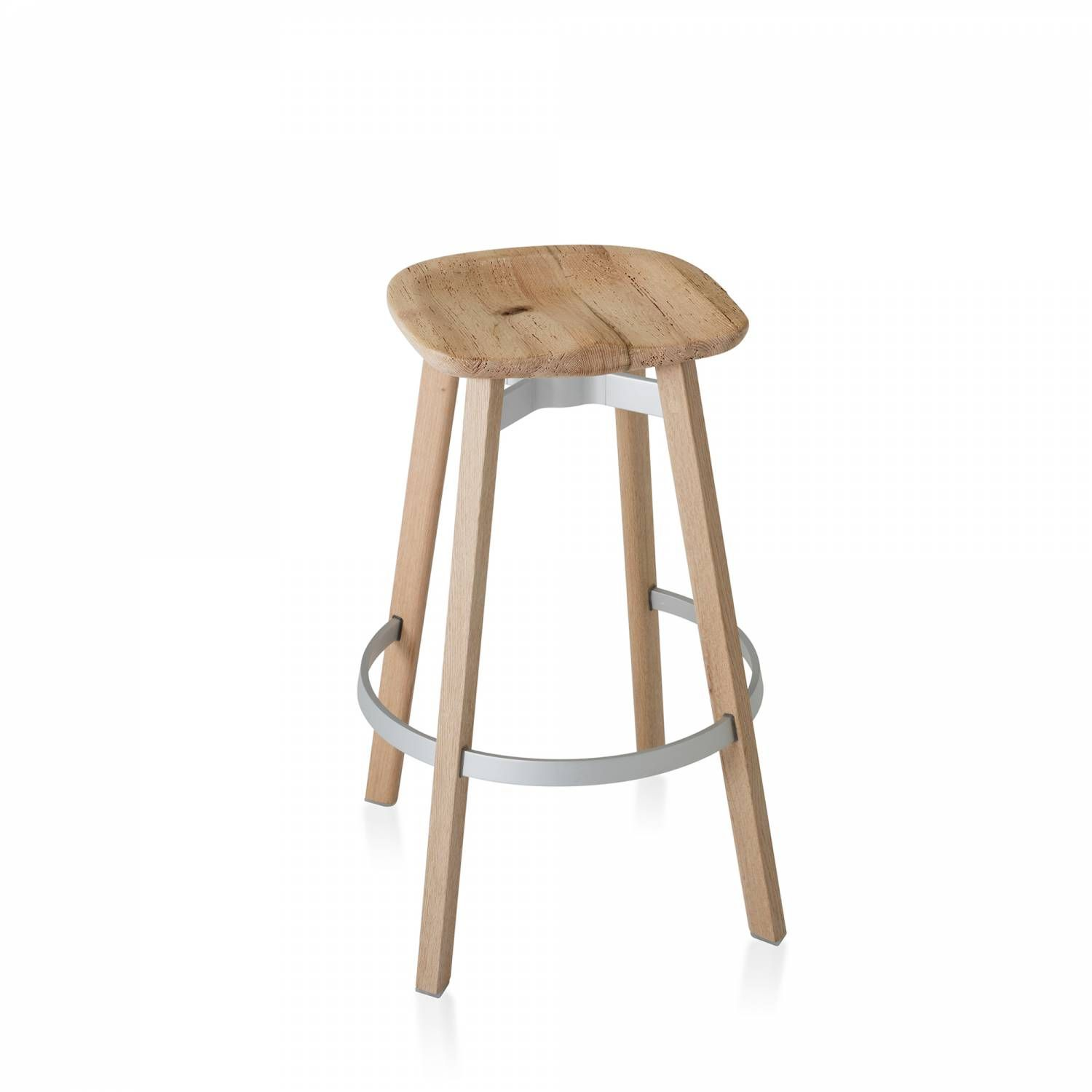 SU BARSTOOL, RECLAIMED OAK SEAT WOODEN LEGS With the invisible ...