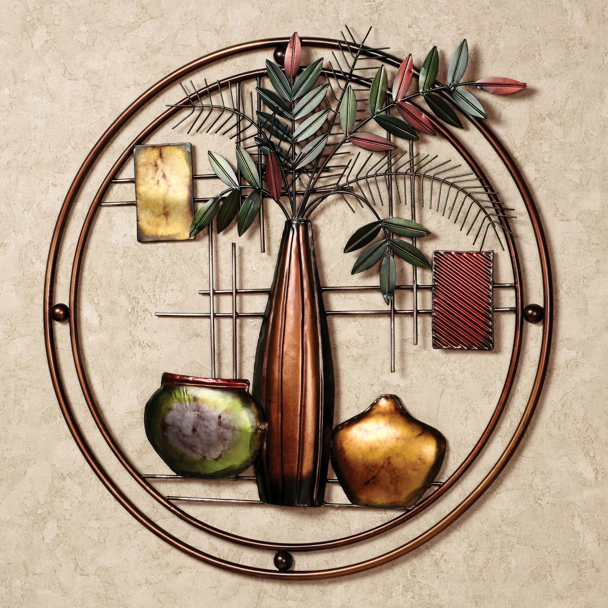 Miruna Round Metal Wall Art   Ideas for the House   Metal ...