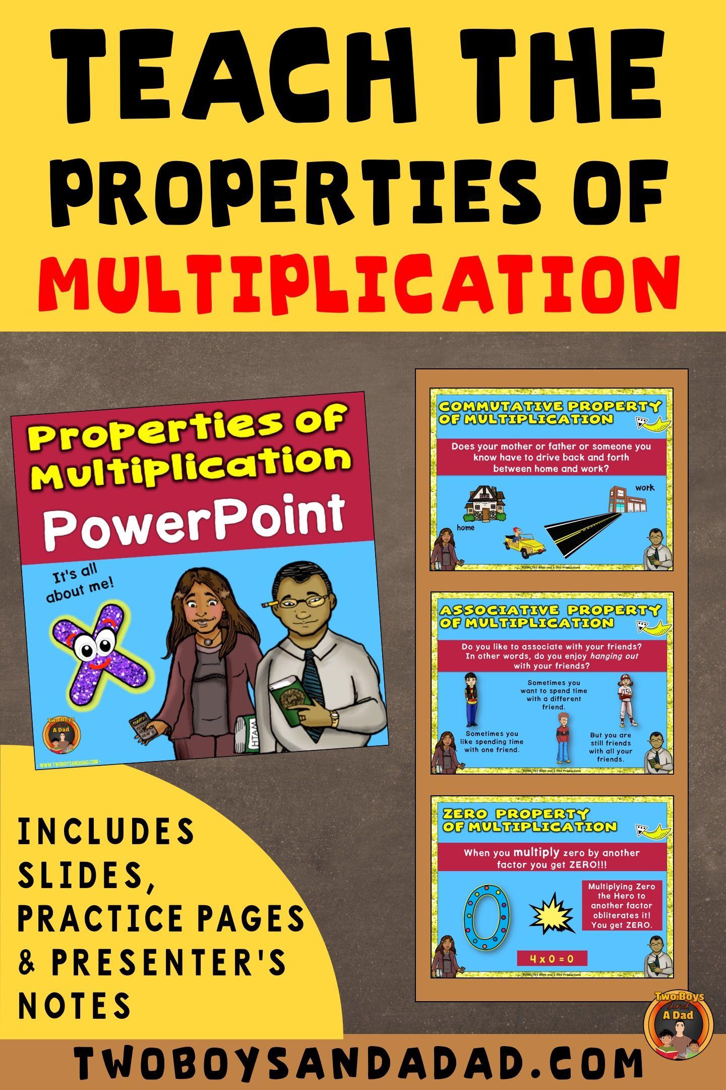 Properties Of Multiplication Powerpoint Powerpoint Lesson Multiplication Teaching Multiplication
