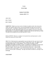 Write a Soap Note | Soap note