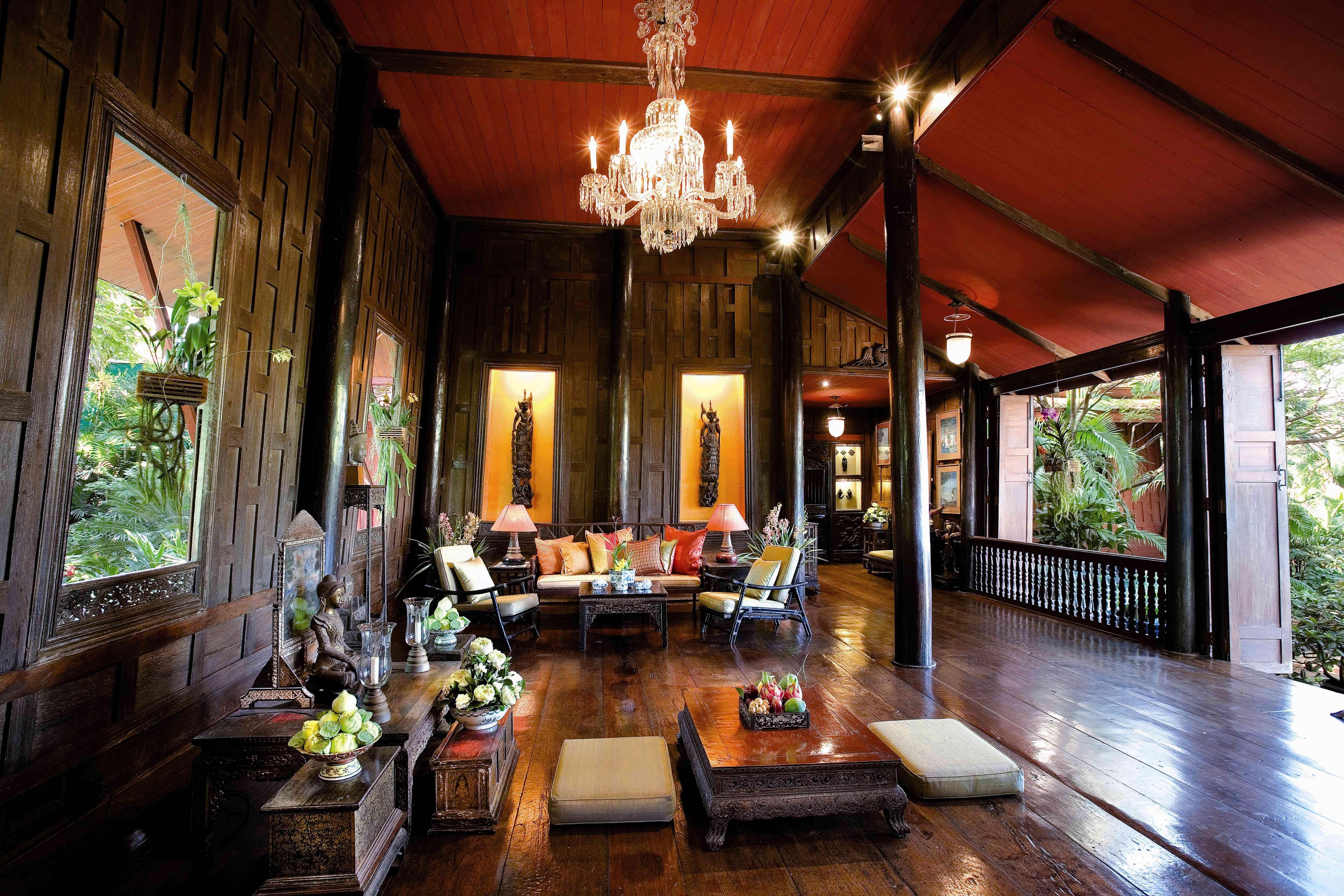 Jim Thompson House Museum Living Room Bangkok Thailand