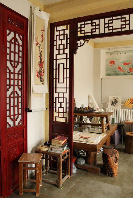 artists studio hutong district beijing china china aziatisch interieur