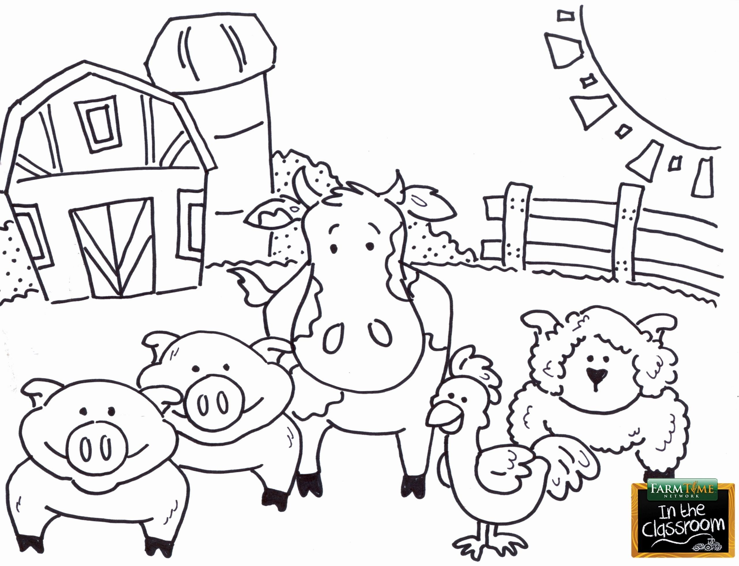 Farm Animals Coloring Pages Small