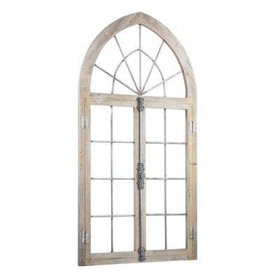 Window Pane Metal And Wood Wall Decor Brown E2 Concepts