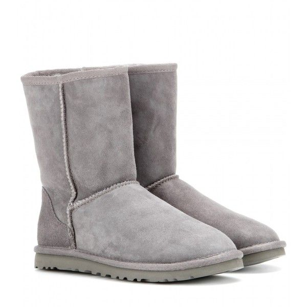 UGG Australia Classic Short Boots ($260) ❤ liked on Polyvore featuring shoes, boots