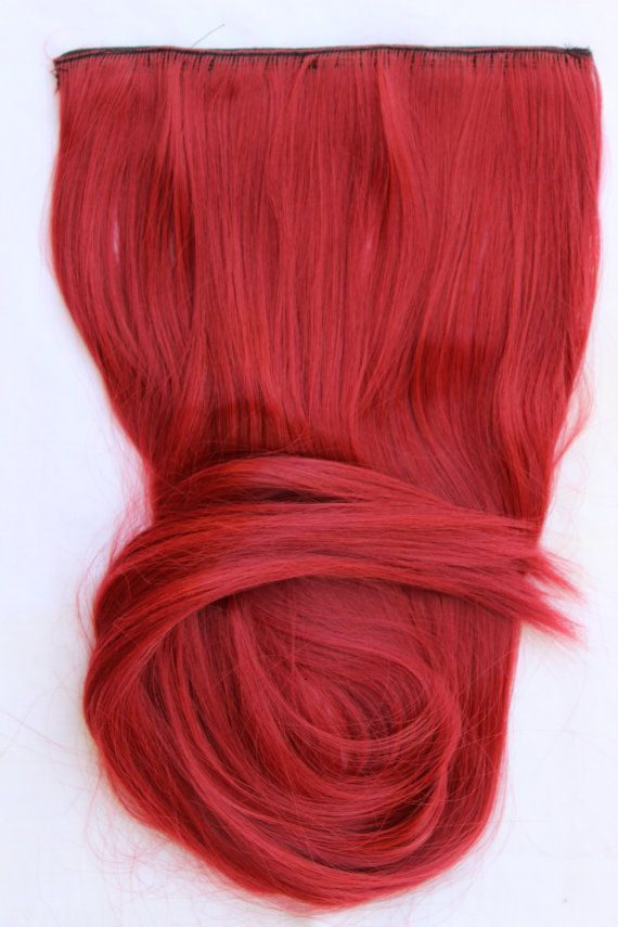26 Red Hair Extension Red Hair Cherry Red One Piece Hair