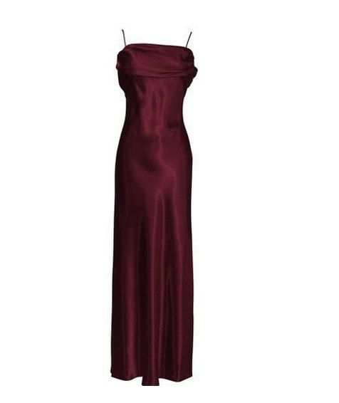 A-line Spaghetti Straps Sleeveless Floor-length Satin Bridesmaid Dress With Free Shipping$116.00