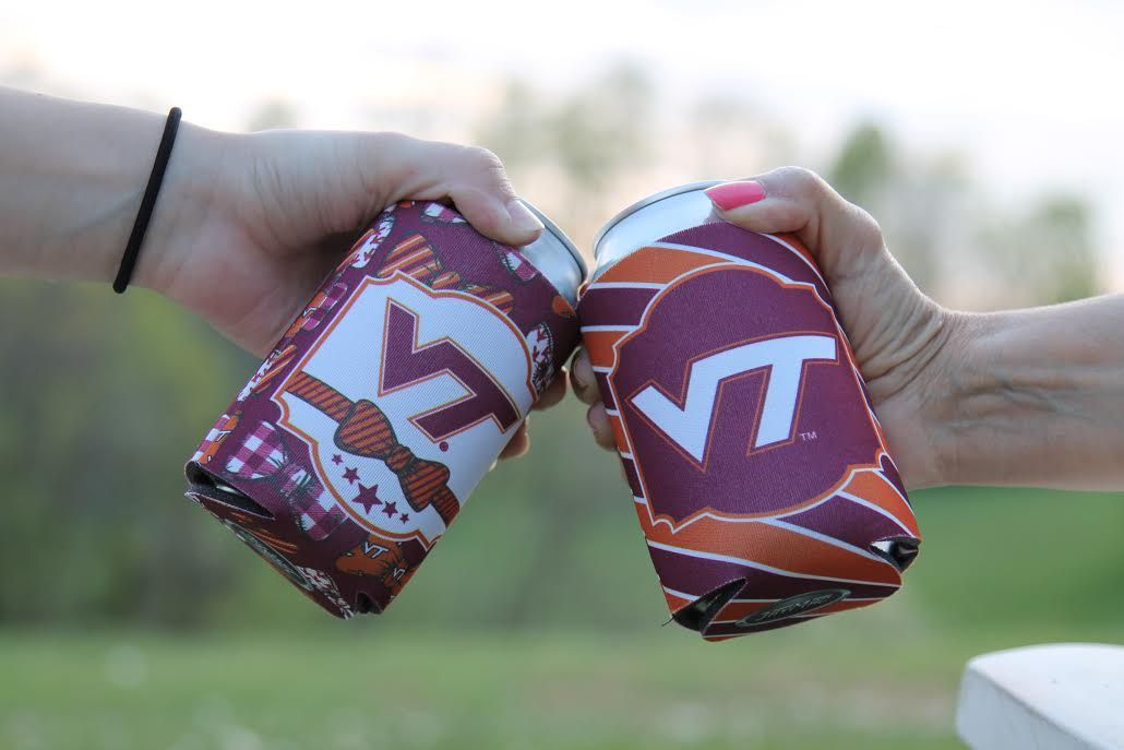 Cheers to the Hokies with these VT coozies! Hokies