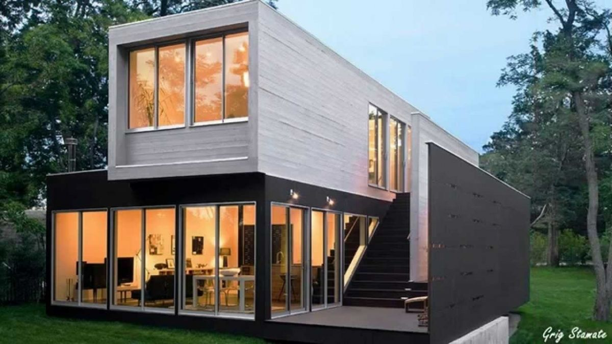 Containerhouse In Almost Luxury Shipping Container Homes Youtube