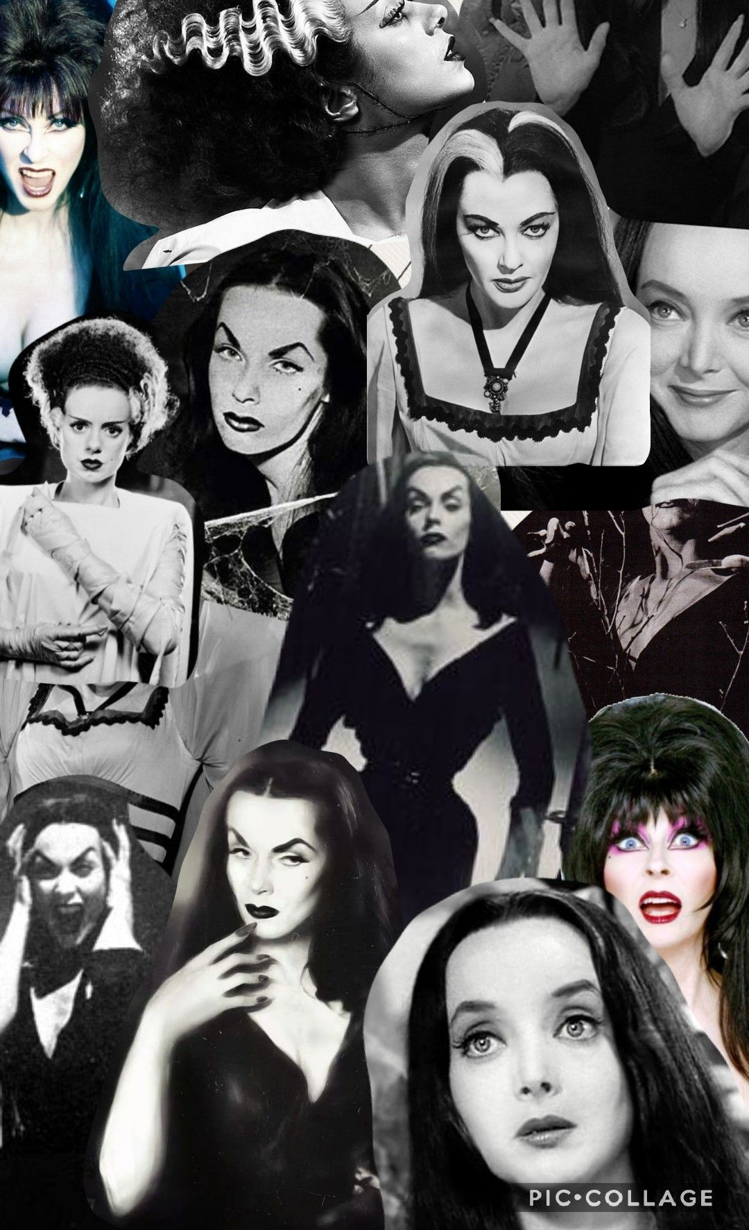 By Me Cannibal Grrrl Insta Creepygirls Wallpaper Morticiaaddams Elvira Vampira Frankensteinsbride Goth Wallpaper Halloween Wallpaper Classic Horror