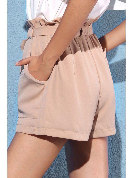 Pocket and Bowknot Design Chiffon Shorts #chiffonshorts