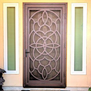 Security doors custom security screen doors steel for Custom storm doors