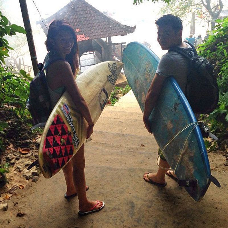 Padang Padang Surf Camp Two Surfers Bali Surf Camp Surfing Surfing Destinations