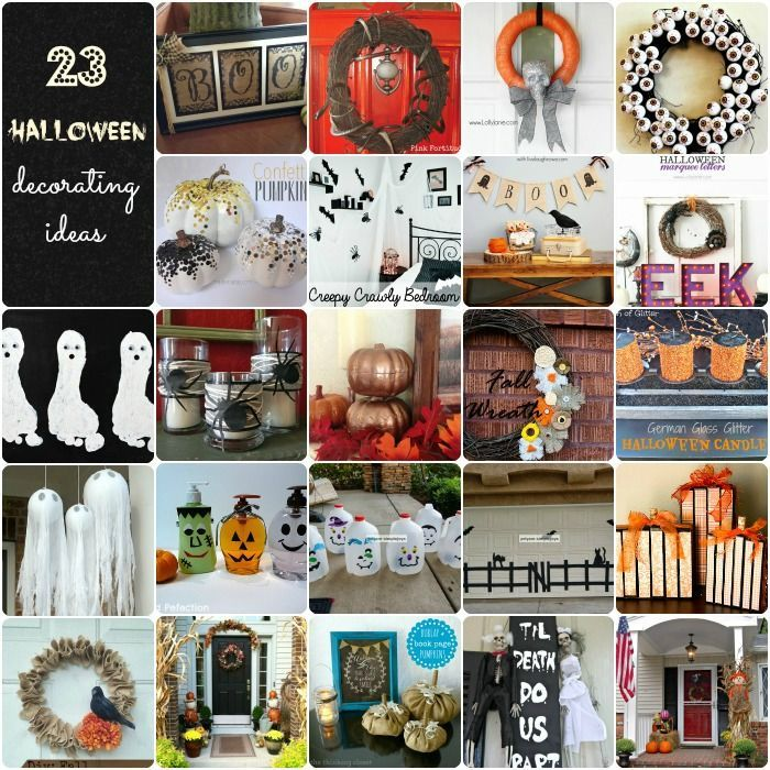 23 Halloween Decorating Ideas #crafts #diy #halloween #decor - ideas halloween decorations