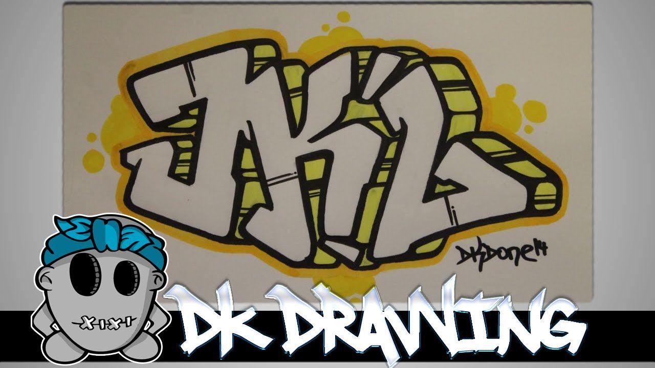How to draw graffiti graffiti letters jkl step by step