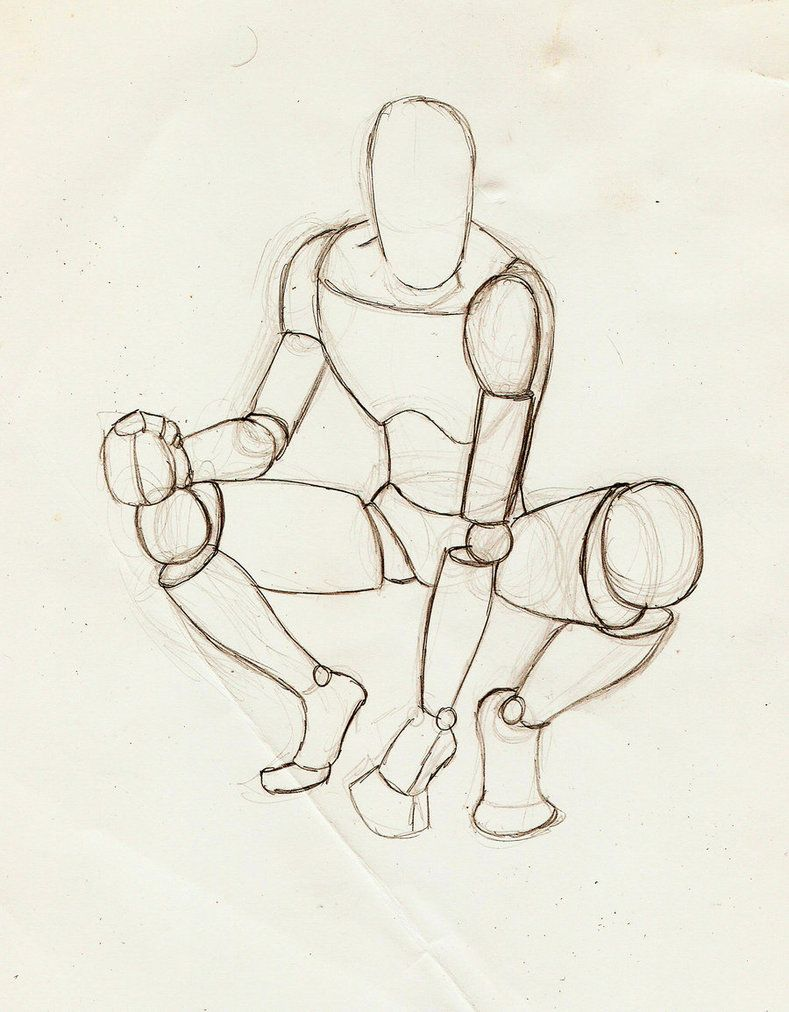 Male crouching perspective by stickwilde on deviantart figure sketch drawing reference
